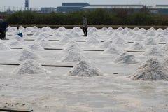 Natürlicher Salzstapel im Ackerland Lizenzfreies Stockfoto