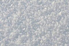 Natürlicher Schneehintergrund im Winter Stockfotografie