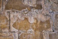 Natürlicher Wandhintergrund mit Sprüngen und Zement lizenzfreies stockbild