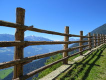 Natürlicher Zaun in den Alpen Stockfoto