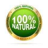 natürliches Abzeichen von 100 Prozent Lizenzfreie Stockfotografie