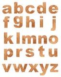 Natürliches Alphabet Stockfoto