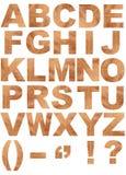 Natürliches Alphabet Stockbild