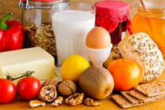 Natürliches biologisches Lebensmittel Lizenzfreies Stockfoto