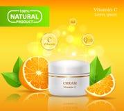 Natürliches Bioprodukt, Lotion für Haut-Creme vektor abbildung