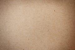 Natürliches Braun aufbereitete Papierbeschaffenheit Stockbild