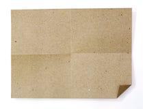 Natürliches braunes aufbereitetes Papier Stockfotografie