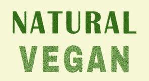 Natürliches Design des strengen Vegetariers Stockbilder