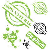 natürliches grunge 100 Stempelset Lizenzfreies Stockbild
