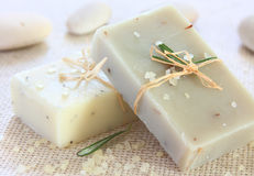 Natürliches handgemachtes Soap.Spa Stockfoto