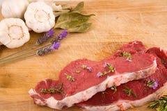 Natürliches Kochen - Mittelmeerbestandteile Stockfoto