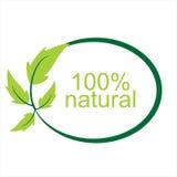 Natürliches Logo und Symbol des Vektors 100% Lizenzfreies Stockfoto