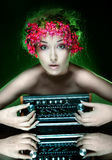 Natürliches Mädchen Lizenzfreie Stockfotografie