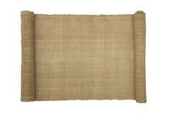 Natürliches Mattenrollenpapier Lizenzfreie Stockbilder
