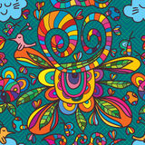 Natürliches nahtloses Muster der wilden Liebe der Blume Stockbilder