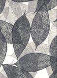 Natürliches Papier mit Blättern, (hight Auflösung) Lizenzfreie Stockfotografie