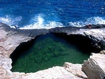 Natürliches Pool Giola in Thassos-Insel, Griechenland Lizenzfreie Stockfotografie