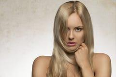 Natürliches Porträt der Schönheitsfrau Stockfoto
