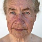 Natürliches Portrait eines Älteren Stockfotografie