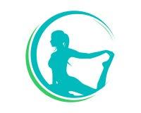 Natürliches Yoga Pilates-Logo lizenzfreie abbildung
