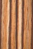 Natürliches Zebrano Furnier-Blatt Stockbild