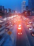 Natężenie ruchu drogowego Zdjęcie Stock