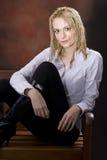 Nat blond haar Royalty-vrije Stock Foto's