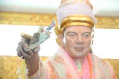 Nat bobo Gyi i den Botahtaung pagoden av Yangon, Myanmar Detta ?r det offentliga st?llet royaltyfria bilder
