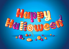 Nat Geo Wild. Happy Halloween sign of sweets royalty free illustration