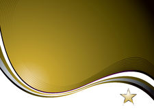 Nat gold wave. Golden background with a flowing design and space for a logo royalty free illustration