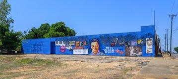 Nat King Cole Dedication Mural eller fasad arkivbilder