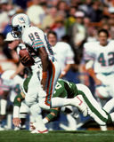 Nat Moore. Miami Dolphins WR Nat Moore. (image taken from b&w negative Royalty Free Stock Photography