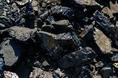 Nat?rliche Kohle Anthrazit, die beste Kohle für Metallurgie lizenzfreies stockbild