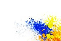 Nat?rliches farbiges Pigmentpulver lizenzfreies stockfoto