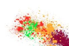 Nat?rliches farbiges Pigmentpulver lizenzfreie stockfotos