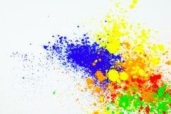 Nat?rliches farbiges Pigmentpulver stock abbildung