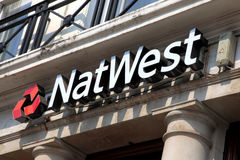Nat West Bank sign Royalty Free Stock Images