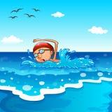 natação ilustração royalty free