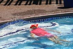 Natação da menina na associação Fotos de Stock Royalty Free