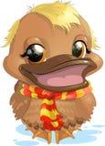 Natação do pato dos desenhos animados Foto de Stock Royalty Free