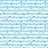 Natação dos peixes do teste padrão no mar azul Pesque o teste padrão Imagem de Stock