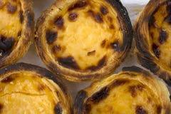 Nata português do nome da sobremesa de Traditionnal Imagem de Stock