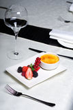 Nata queimada - sobremesa deliciosa Fotografia de Stock