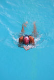 Natación de la muchacha Imagen de archivo
