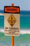 Natación de la señal de peligro Imagen de archivo libre de regalías