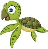 Natación de la tortuga del bebé de la historieta Imágenes de archivo libres de regalías