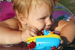Natación del niño Imagen de archivo