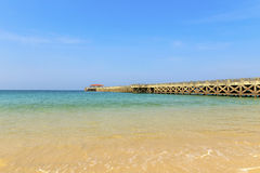 Nataibrug bij Natai-strand Stock Foto