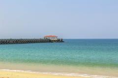 Nataibrug bij Natai-strand Stock Afbeeldingen