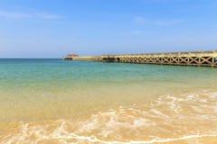 Nataibrug bij Natai-strand Royalty-vrije Stock Foto's